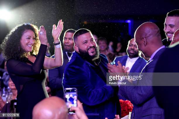 Khalid attends the Clive Davis and Recording Academy PreGRAMMY Gala and GRAMMY Salute to Industry Icons Honoring JayZ on January 27 2018 in New York...