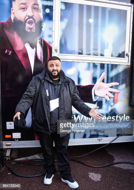 Khaled attends Weight Watchers Kitchen Tour Special Surprise at Roundhouse Park on March 19 2018 in Toronto Canada
