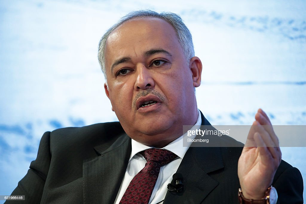 Khaled Biyari, chief executive officer of Saudi Telecom Co., gestures as he speaks during a panel session at the World Economic Forum (WEF) in Davos, Switzerland, on Wednesday, Jan. 18, 2017. World leaders, influential executives, bankers and policy makers attend the 47th annual meeting of the World Economic Forum in Davos from Jan. 17 - 20. Photographer: Jason Alden/Bloomberg via Getty Images