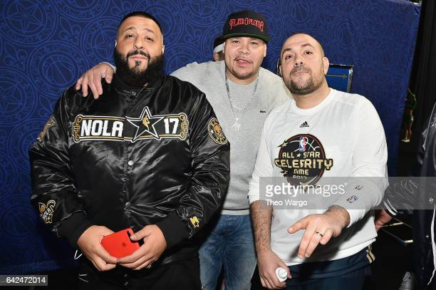 DJ Khaled Fat Joe and Peter Rosenberg attend the 2017 NBA AllStar Celebrity Game at MercedesBenz Superdome on February 17 2017 in New Orleans...