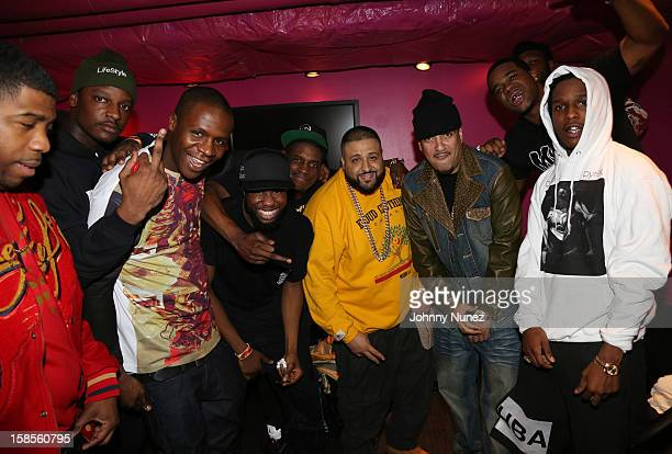 Khaled French Montana A$AP Rocky and A$AP Mob attend 'TI In Concert' at Best Buy Theater on December 18 2012 in New York United States