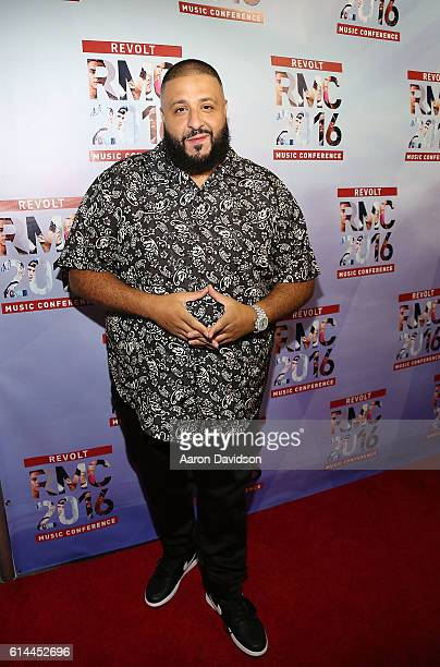 Khaled hosts the KickOff Revolt Music Conference with Sean Diddy Combs at Eden Roc a Renaissance Beach Resort and Spa on October 13 2016 in Miami...