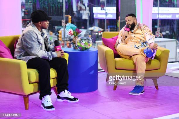 """Khaled is interviewed by Sway Calloway as """"MTV Presents: Khaled Con,"""" a DJ Khaled-hosted fan event in MTV's Times Square Studio, celebrating the..."""