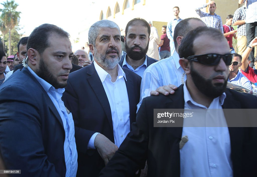 Hamas Leader Khaled Mashaal Attends His Mother's Funeral In Amman