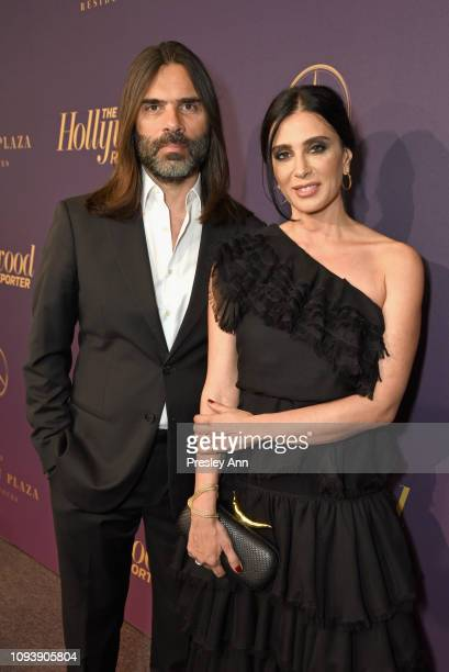 Khaled Mouzanar and Nadine Labaki attend The Hollywood Reporter's 7th Annual Nominees Night presented by MercedesBenz Century Plaza Residences and...