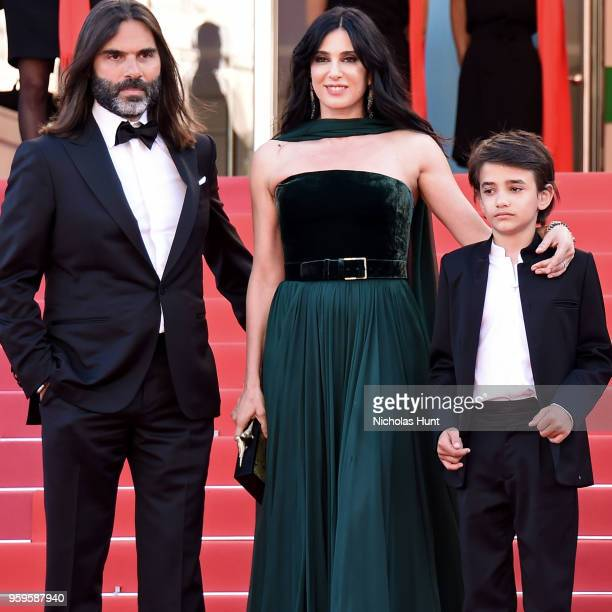 Khaled Mouzanar director Nadine Labaki and Zain Alrafeea attends the screening of Capharnaum during the 71st annual Cannes Film Festival at Palais...