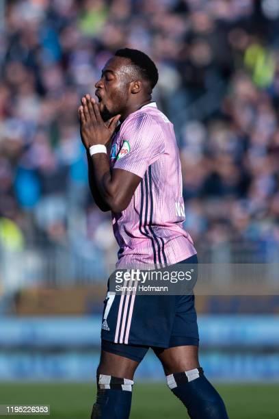 Khaled Narey of Hamburg reacts during the Second Bundesliga match between SV Darmstadt 98 and Hamburger SV at Merck-Stadion am Boellenfalltor on...