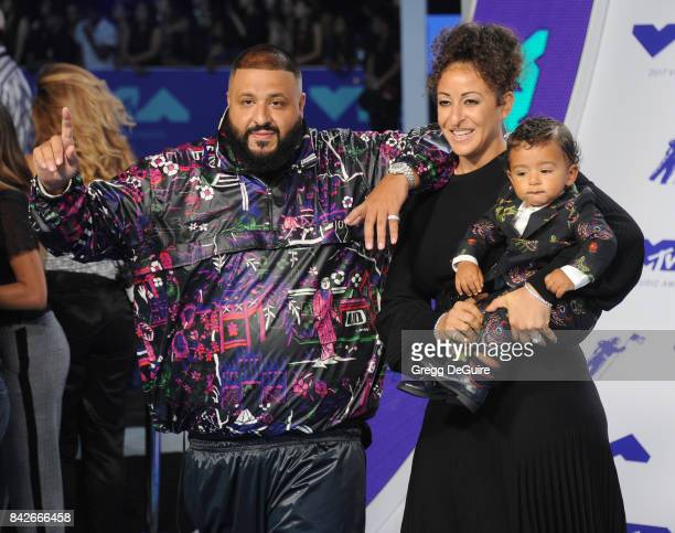 Khaled Nicole Tuck and Asahd Tuck Khaled arrive at the 2017 MTV Video Music Awards at The Forum on August 27 2017 in Inglewood California