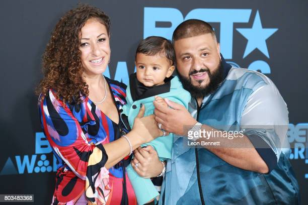 DJ Khaled Nicole Tuck and Asahd Tuck Khaled arrives at the 2017 BET Awards at Microsoft Theater on June 25 2017 in Los Angeles California