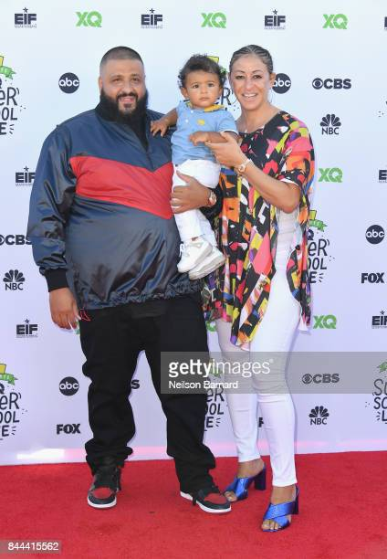 Khaled Nicole Tuck and Asahd Tuck Khaled attend XQ Super School Live presented by EIF at Barker Hangar on September 8 2017 in Santa California