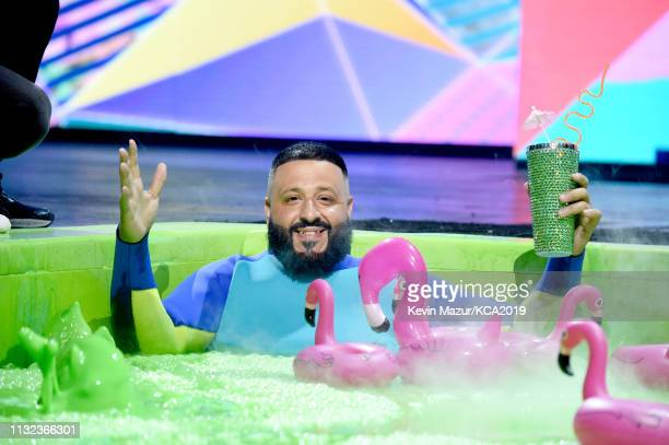 Khaled onstage at Nickelodeon's 2019 Kids' Choice Awards at Galen Center on March 23 2019 in Los Angeles California