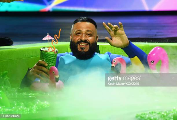 Khaled onstage during Nickelodeon's 2019 Kids' Choice Awards at Galen Center on March 23 2019 in Los Angeles California