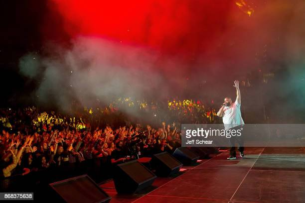 Khaled performs a free concert at the Kohl Center on Monday October 30 2017 in Madison Wisconsin During welcome week University of Wisconsin freshman...