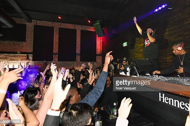 Khaled performs at the Marquee Takeover at Verso Big Game Weekend presented by Hennessy VS Day 4 on February 7 2016 in San Francisco California