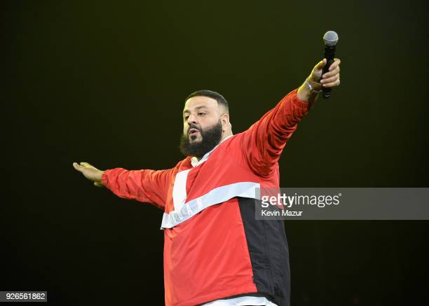 Khaled performs during Demi Lovato 'Tell Me You Love Me' World Tour at The Forum on March 2 2018 in Inglewood California