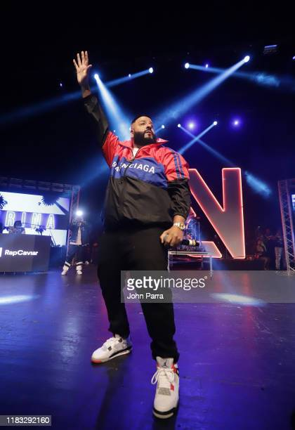 Khaled performs during the RapCaviar Live Concert on October 24, 2019 in Miami Beach, Florida.