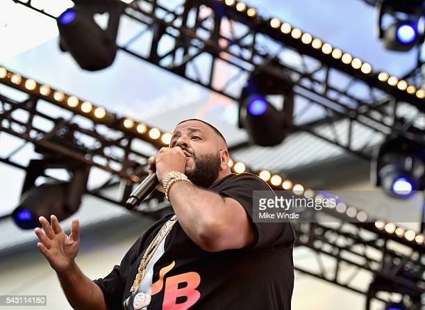 Khaled performs onstage at EpicFest 2016 hosted by LA Reid and Epic Records at Sony Studios on June 25 2016 in Los Angeles California