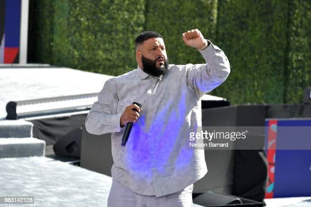 Khaled performs onstage at Live Red Ready PreShow sponsored by Nissan at the 2018 BET Awards at Microsoft Theater on June 24 2018 in Los Angeles...