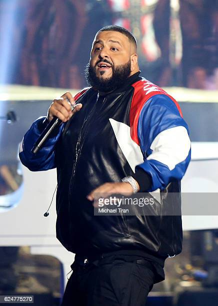 Khaled performs onstage during the 2016 American Music Awards held at Microsoft Theater on November 20 2016 in Los Angeles California