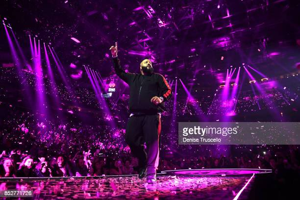 Khaled performs onstage during the 2017 iHeartRadio Music Festival at TMobile Arena on September 23 2017 in Las Vegas Nevada