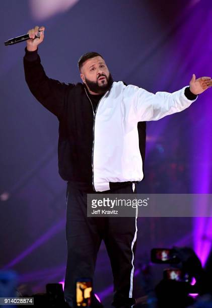 Khaled performs onstage during the 2018 DIRECTV NOW Super Saturday Night Concert at NOMADIC LIVE at The Armory on February 3 2018 in Minneapolis...