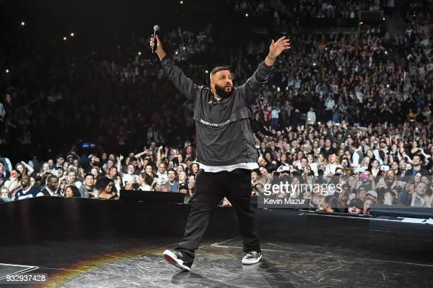 Khaled performs onstage during the Demi Lovato 'Tell Me You Love Me' World Tour at Barclays Center of Brooklyn on March 16 2018 in New York City