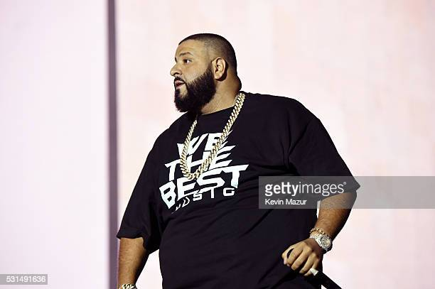 """Khaled performs onstage during """"The Formation World Tour"""" at the Rose Bowl on May 14, 2016 in Pasadena, California."""
