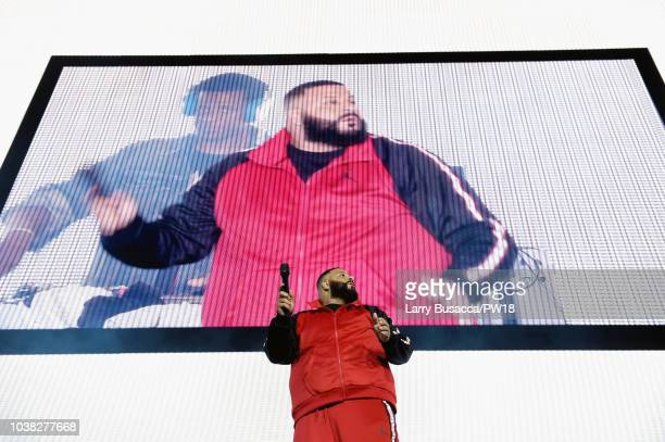 Khaled performs onstage during the 'On The Run II' Tour at Rose Bowl on September 22 2018 in Pasadena California