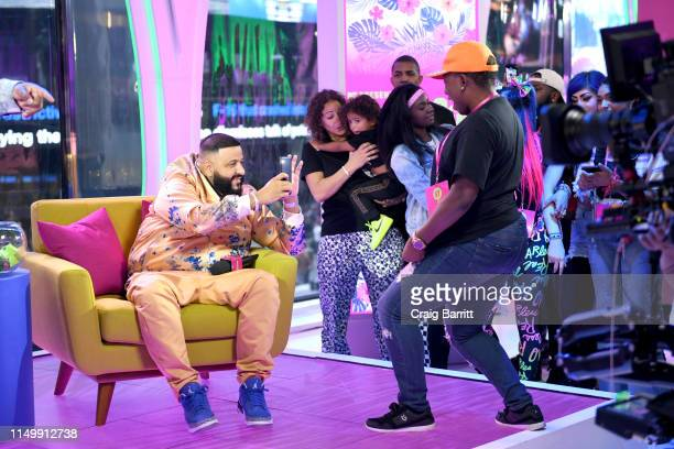 """Khaled photographs a fan as """"MTV Presents: Khaled Con,"""" a DJ Khaled-hosted fan event in MTV's Times Square Studio, celebrating the release of """"Father..."""