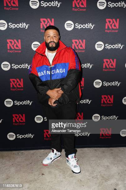 Khaled poses backstage during the RapCaviar Live Concert on October 24, 2019 in Miami Beach, Florida.