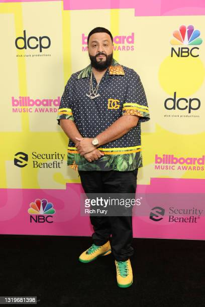 Khaled poses backstage for the 2021 Billboard Music Awards, broadcast on May 23, 2021 at Microsoft Theater in Los Angeles, California.