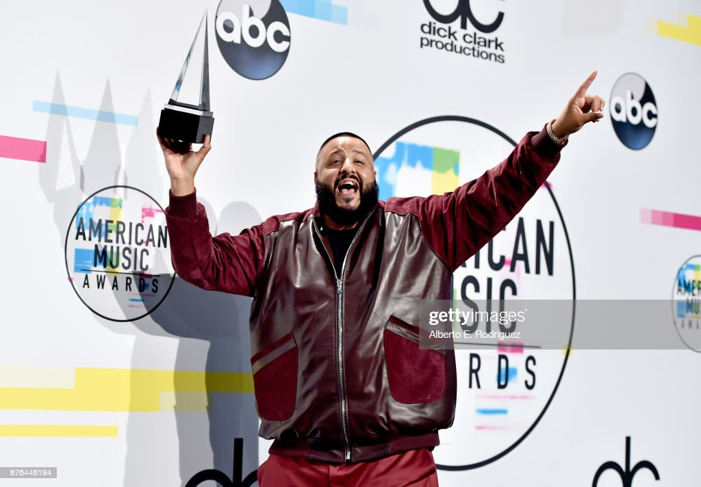 DJ Khaled poses in the press room during the 2017 American Music Awards at Microsoft Theater on November 19, 2017 in Los Angeles, California.