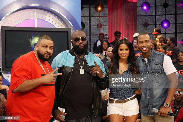 DJ Khaled Rick Ross Rocsi and Terrence visit BET's 106 Park at BET Studios on July 30 2012 in New York City