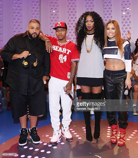 DJ Khaled Shad Moss Remy Ma and Keshia Chante attend 106 Park at BET studio on August 11 2014 in New York City