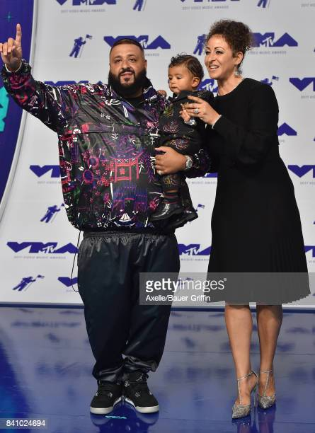 Khaled son Asahd Tuck Khaled and Nicole Tuck arrive at the 2017 MTV Video Music Awards at The Forum on August 27 2017 in Inglewood California