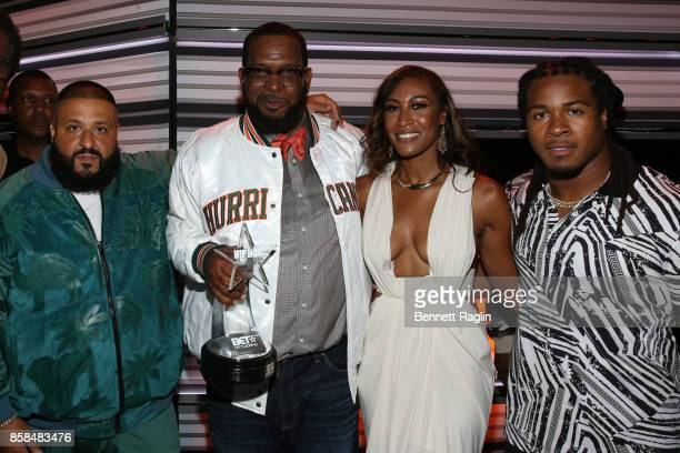 Khaled Uncle Luke Kristin Thompson and Devonta Freeman attend the BET Hip Hop Awards 2017 at The Fillmore Miami Beach at the Jackie Gleason Theater...