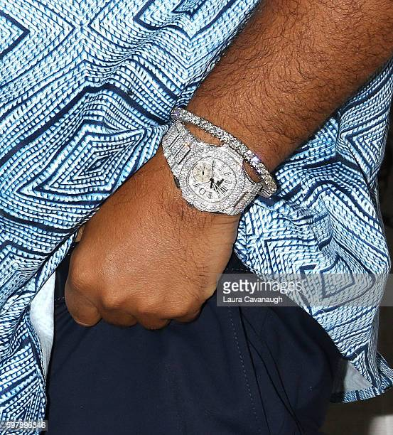 Khaled watch detail attends AOL Build Presents to celebrate the Launch of the Ciroc Ad Campaign at AOL HQ on August 29 2016 in New York City