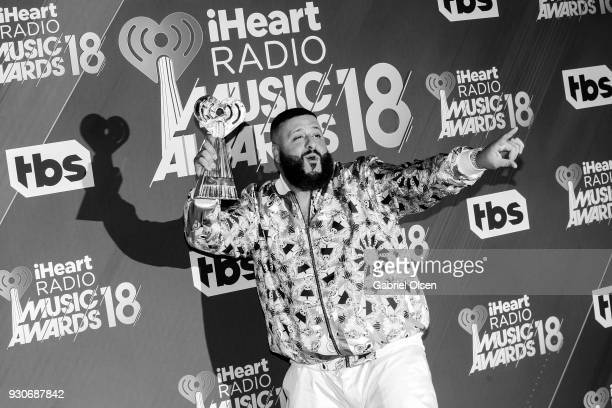 DJ Khaled winner of HipHop Song of the Year for 'Wild Thoughts' poses in the press room at The Forum on March 11 2018 in Inglewood California