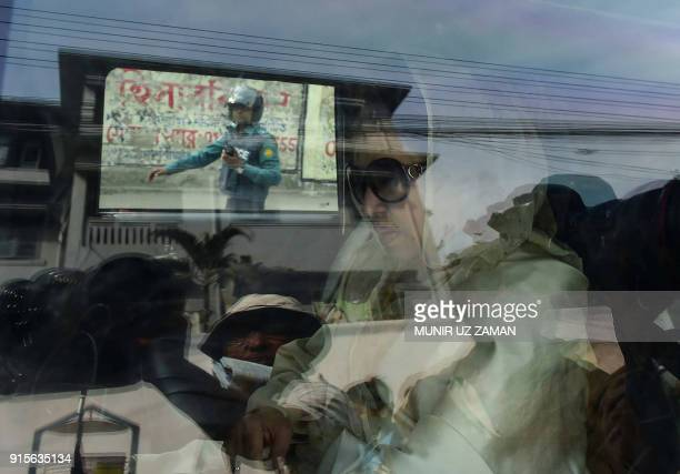 TOPSHOT Khaleda Zia Bangladesh's main opposition leader and Bangladesh Nationalist Party chairperson is pictured arriving at a court to hear a...