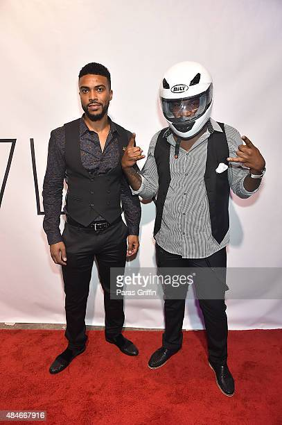 Khaleel Garcia and Bernard Love attend LVL XIII Luxury Footwear Unveiling The World Is Not Enough on August 20 2015 in Atlanta Georgia