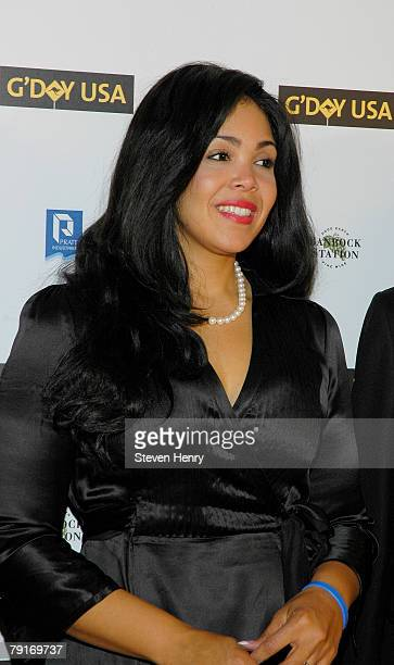 Khaliah Ali attends the opening night celebration for G'DAY USA Australia Week at Jazz Lincoln Center on January 22 2008 in New York City