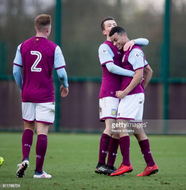 Khalid Abdo of Aston Villa scores for Aston Villa during the Premier League 2 match between Aston Villa and Middlesbrough at Bodymoor Heath on...