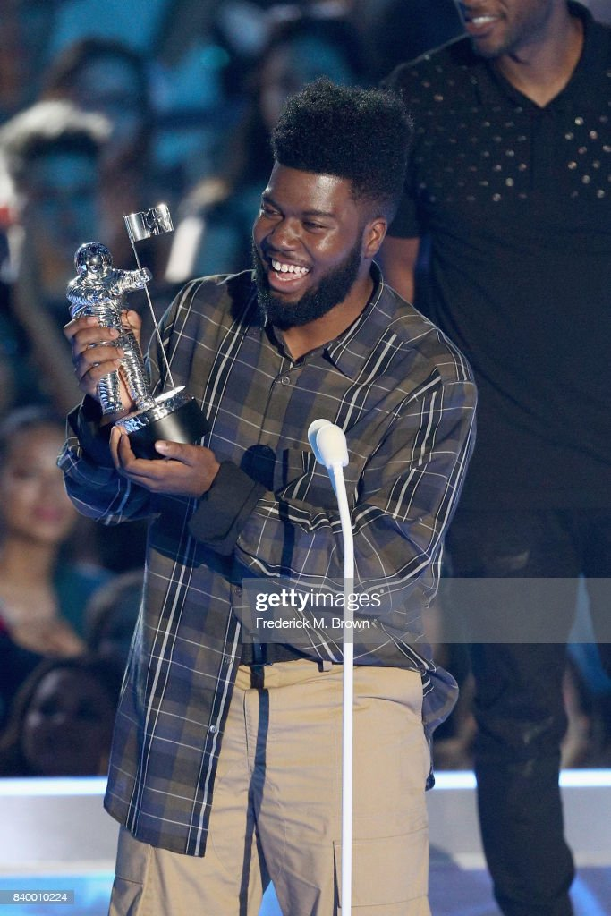 Khalid accepts the Best New Artist award onstage during the 2017 MTV Video Music Awards at The Forum on August 27, 2017 in Inglewood, California.