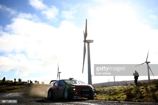 Khalid al Qassimi of United Arab Emirates and Citroen Total Abu Dhabi WRT drives with codriver Chris Patterson of Great Britain during day one of the...