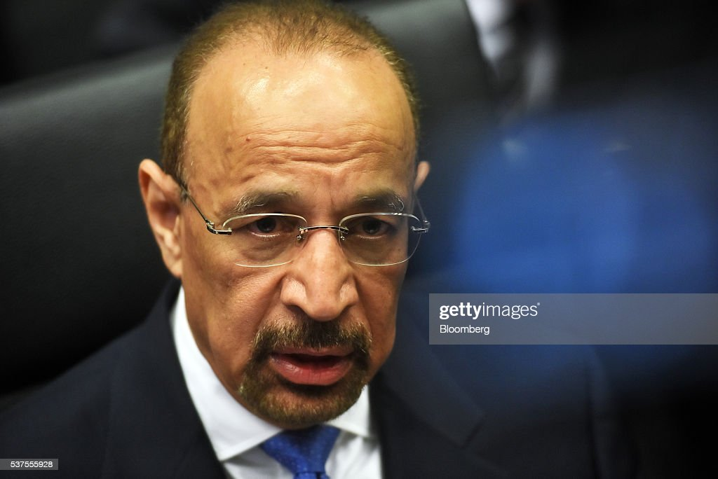 Khalid Al-Falih, Saudi Arabia's minister of energy and industry, looks on ahead of the 169th Organization of Petroleum Exporting Countries (OPEC) meeting in Vienna, Austria, on Thursday, June 2, 2016. Saudi Arabia is ready to consider a surprise deal with fellow OPEC members, attempting to mend divisions that had grown so wide many dubbed the group as good as dead. Photographer: Akos Stiller/Bloomberg via Getty Images