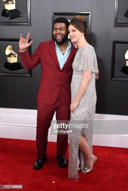 Khalid and Lana Del Rey attend the 62nd Annual GRAMMY Awards at Staples Center on January 26, 2020 in Los Angeles, California.
