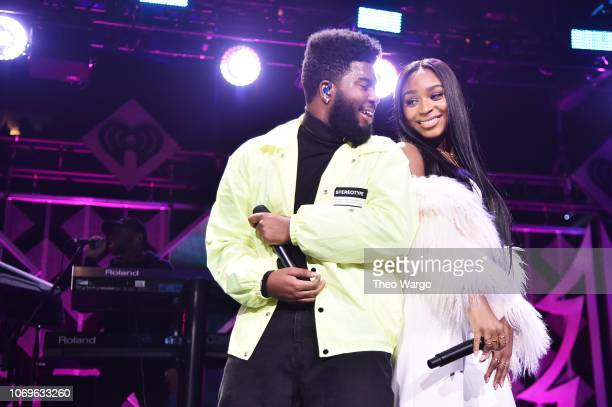 Khalid and Normani perform at Z100's Jingle Ball 2018 at Madison Square Garden on December 7 2018 in New York City