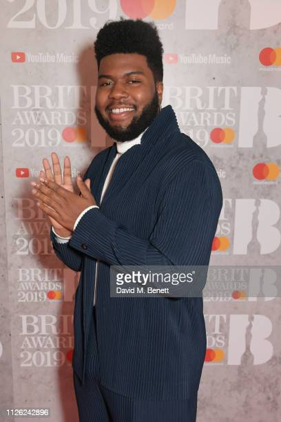 Khalid arrives at The BRIT Awards 2019 held at The O2 Arena on February 20 2019 in London England