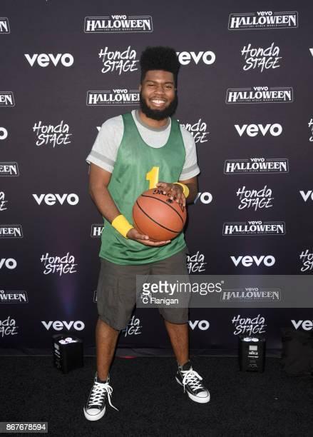Khalid arrives at Vevo Halloween 2017 at Craneway Pavilion on October 28 2017 in Richmond California