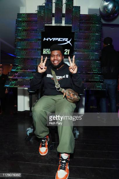 Khalid attend Khalid's 21st Birthday Party on February 11, 2019 in Beverly Hills, California.